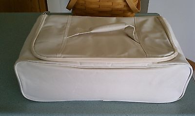 Longaberger insulated cooler in Flax for large Entertaining Basket NEW