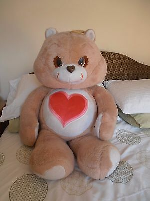 "Massive Rare 36"" Tenderheart Care Bear from the 1980s"