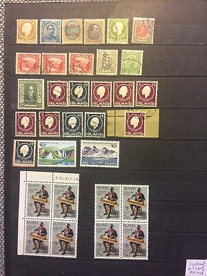 Iceland - lot used - MH and MNH