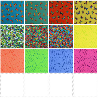 Fabric Freedom Bright Spirit 100% Pure Cotton Fabric Material Quilting Patchwork