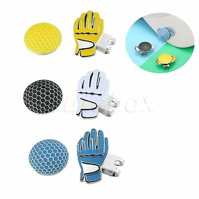 Portable Glove Gesign Hat Clip Removable Magnetic Golf Ball Marker Brand New