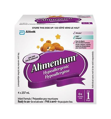 Abbott Laboratories Alimentum Ready to Feed 237mL 4-Pack New