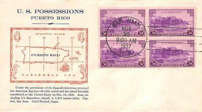 801 3c Puerto Rico, First Day Cover Cachet [D276777]