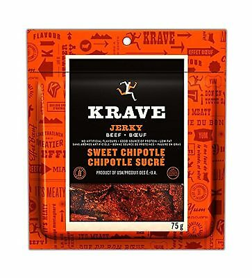 Krave Sweet Chipotle Beef Jerky 75-Gram New