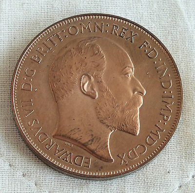 1910 Edward Vii Copper Proof Pattern Crown - George Slaying Dragon Crown