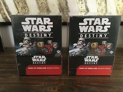 Star Wars Destiny Spirit of Rebellion (3 Booster Boxes And 12 Unopened Packs )