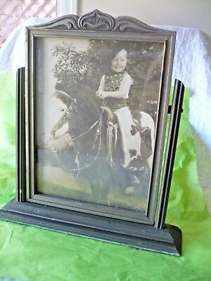 Vintage Wooden Art Deco Arts & Crafts Swing Tilt Picture Frame