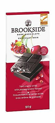 Brookside Tart Cherry Crisp with Pomegranate Tablet Bar 90 Gram New