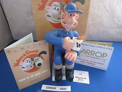 New Pair Wallace & Gromit Anti Pesto  Wg26 & Wg27 Curse Of Were Rabbit Harrop