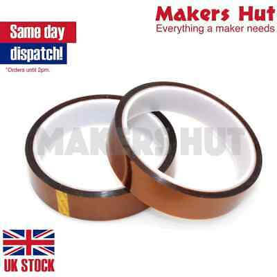 Kapton Tape 33m High Temperature Heat Resistant Polyimide - 5mm to 200mm wide