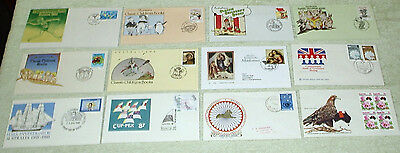 bulk lot. unusual cancels or envelopes - first day covers