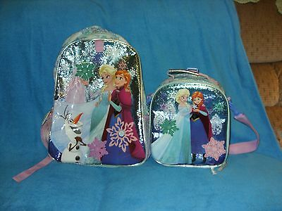 Girls Disney Store Frozen Backpack And Lunch Tote  Set