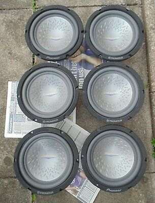 """Pioneer ts-w253f free air 10"""" bass subwoofers (ideal bmwe46 convertible fitment)"""