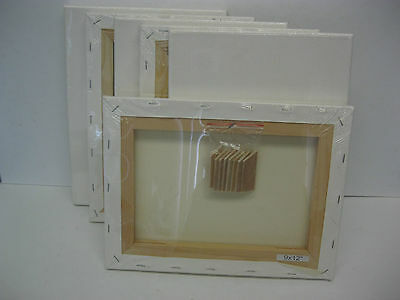 "Lot of 6 pcs Primed  Artist Stretched Canvas 9x12""  inches"