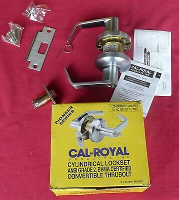 SL20 Cal-Royal Pioneer Heavy Duty Cylindrical Lever Lock Grade 2 Privacy, US26D