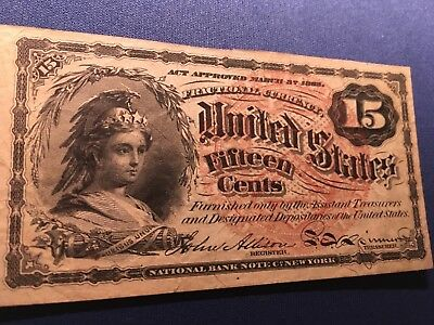 1869 - 1875 4th Issue 15 Cent Fractional Currency FR 1268