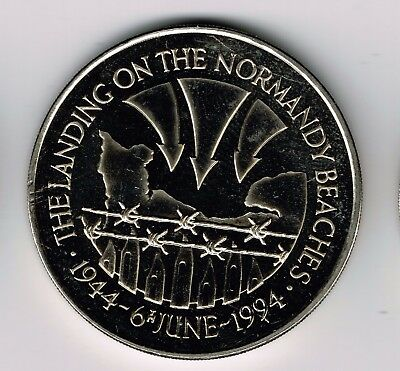 1994 St Helena CuNi 50 pence crown coin - Normandy landings