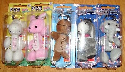 LOT OF Pez Party Animal Hippity hoppities Arctic babies Dispenser and Key Chain