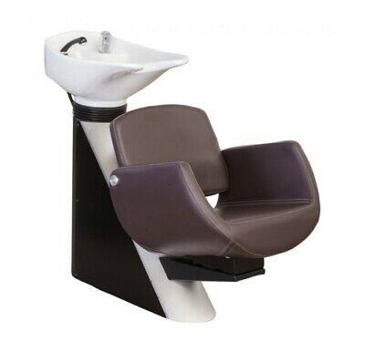 Comair Washing Area Zurich Chair Dark Brown, Basin White Washbasin Salon