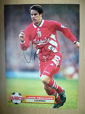 Original Hand Signed Press Cutting- JAMIE REDKNAPP, Liverpool FC (appx. A4.)