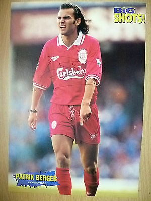 Original Hand Signed Press Cutting- PATRIK BERGER, Liverpool FC (apx. A4 )