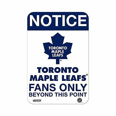 Steiner Sports Toronto Maple Leafs Fans only 8x12 Aluminum Sign New