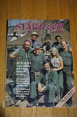 MASH TV Show Final Episode 1983 Star Week TV Guide magazine VG