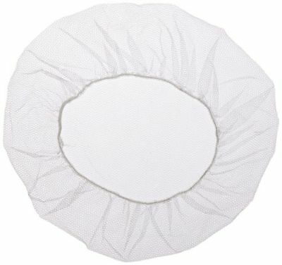 "1000 Pieces 18~24"" Nylon Hair Net Cap White for Medical Food Service"