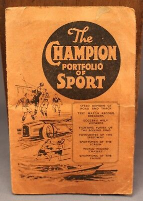 Wonderful 1930s Vintage THE CHAMPION PORTFOLIO OF SPORT Booklet Trading Cards