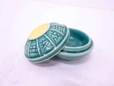 82773# Japanese Tea Ceremony / Green Glaze Incense Container / Mouse