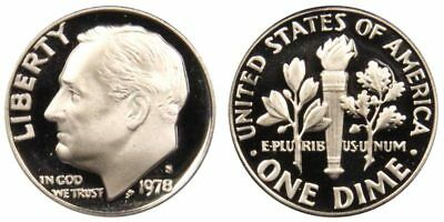 1978-S Gem Proof Roosevelt Dime 10c