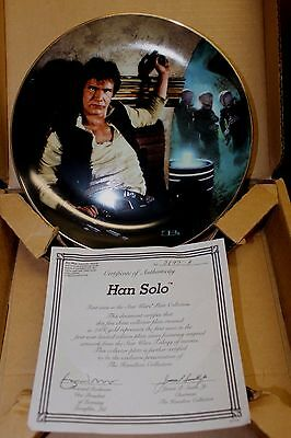 STAR WARS-HAN SOLO-Hamilton Collection Collector's Plate-BOX COA-NEVER DISPLAYED