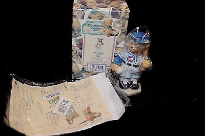 "Cherished Teddies Chicago Cubs Ernie Banks 2000-""Let's Play Two""- #203432C - NIB"