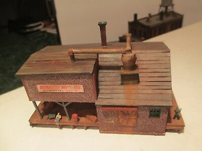 Beautiful Wooden N Scale Factory Warehouse  Building Built Craftmans Kit