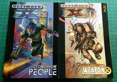 Lot of Four Ultimate X-Men TPBs Volumes 1, 2, 8, 9