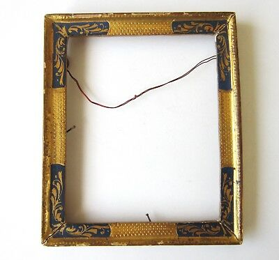 Antique Hand-Painted Small Wooden Frame