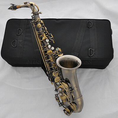Top Antique Alto Eb saxophone Abalone Key Sax high F# with new case