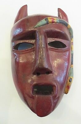 Vintage Devil Mask with Snake/Coastal Guatemala