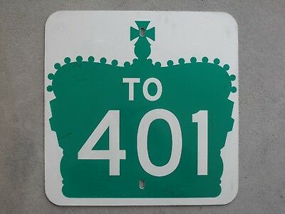 Ontario Canada QEW provincial highway 401 route road traffic sign USED REAL