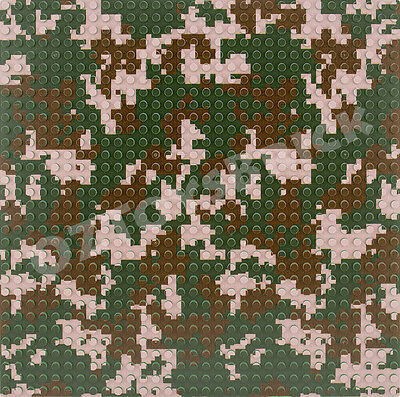 Base Plate Military Camouflage 32X32 Studs Baseplate Lego Compatible Style 2