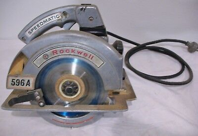 PORTER-CABLE Rockwell Speedmatic Circular Saw 596A & Custom Carrying Case +Extra
