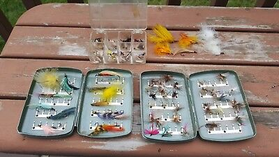 Vintage Fly Fishing Flies & Fly Boxes