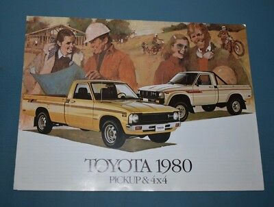 1980 Toyota Pickup and 4 X 4 Truck Sales Brochure Canadian