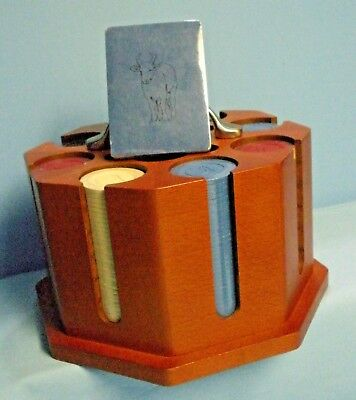 Michael Graves Design . Poker Chip Set in Wood Carrier . NEW IN BOX