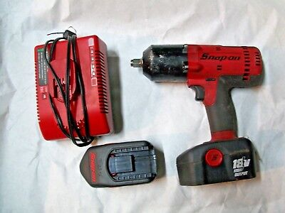 "Snap On CT6818 1/2"" High Output Cordless Impact w/ 2 Ni-Cad Batteries & Charger"