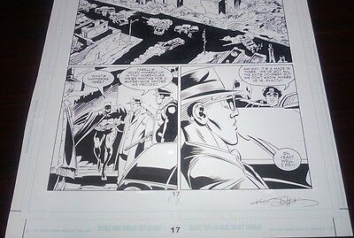DC Batman Legends of the Dark Knight Original Published Comic Book Art Page.