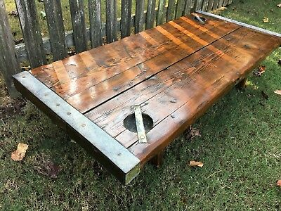 Ww2 Liberty Victory Ship Hatch Cover Nautical Antique Coffee Table Decor