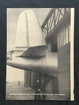 1939 Magazine WWII Article Photos ~ Great Britain Airplanes ~ Spitfire Hurricane