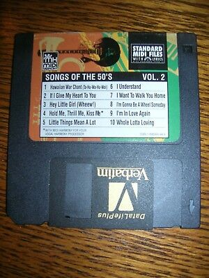 Tune 1000 Standard Midi Files 3.5 Floppy Disk - Songs Of The 50's Vol. 2