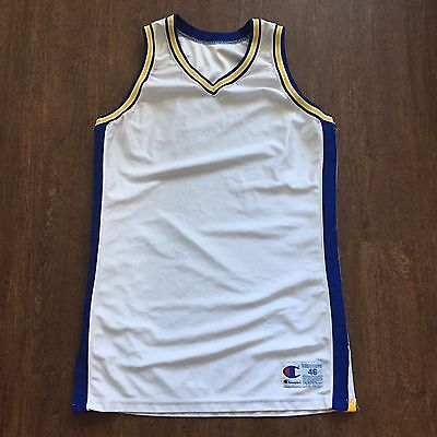 free shipping b7f6e 95b37 BLANK HOME GOLDEN State Warriors Champion Pro Cut NBA Authentic Jersey Sz  46 + 2